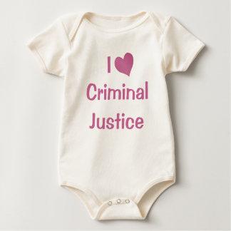 I Love Criminal Justice Bodysuits
