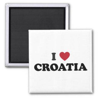 I Love Croatia Square Magnet