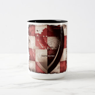 I love Croatia Two-Tone Coffee Mug