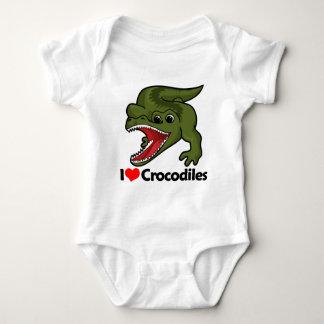 I Love Crocodiles Baby Bodysuit