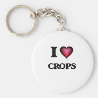 I love Crops Keychain