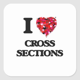 I love Cross Sections Square Sticker