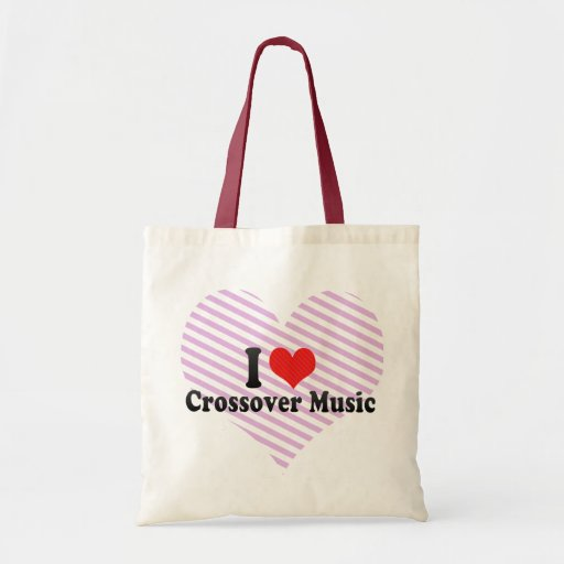 I Love Crossover Music Tote Bag