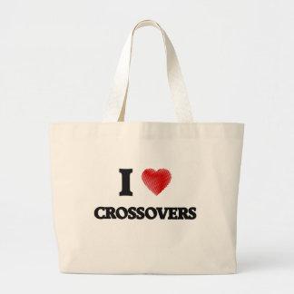 I love Crossovers Jumbo Tote Bag