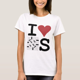 I Love Crosswords Clothing and Accessories T-Shirt