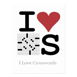 I Love Crosswords Postcard