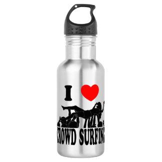I Love Crowd Surfing (female) (blk) 532 Ml Water Bottle