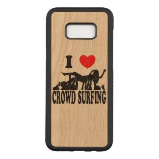 I Love Crowd Surfing (female) (blk) Carved Samsung Galaxy S8+ Case