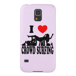 I Love Crowd Surfing (female) (blk) Cases For Galaxy S5