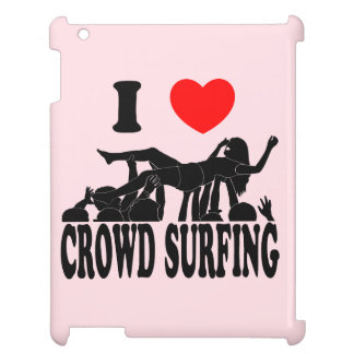 I Love Crowd Surfing (female) (blk) Cover For The iPad 2 3 4