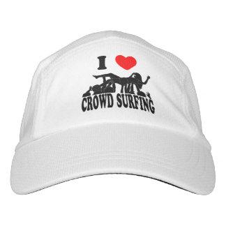 I Love Crowd Surfing (female) (blk) Headsweats Hat