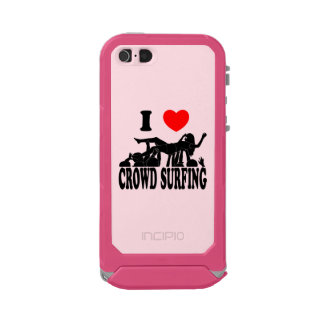 I Love Crowd Surfing (female) (blk) Incipio ATLAS ID™ iPhone 5 Case