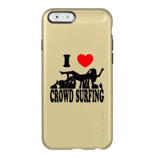 I Love Crowd Surfing (female) (blk) Incipio Feather® Shine iPhone 6 Case
