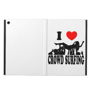 I Love Crowd Surfing (female) (blk) iPad Air Case