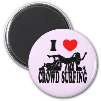 I Love Crowd Surfing (female) (blk) Magnet