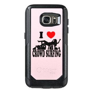I Love Crowd Surfing (female) (blk) OtterBox Samsung Galaxy S7 Case