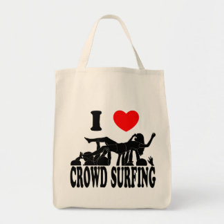 I Love Crowd Surfing (female) (blk) Tote Bag