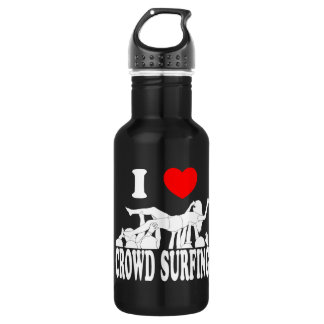 I Love Crowd Surfing (female) (wht) 532 Ml Water Bottle