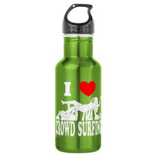 I Love Crowd Surfing (female) (wht) 532 Ml Water Bottle