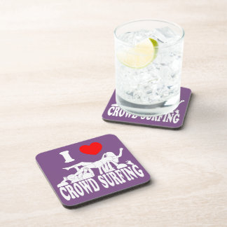 I Love Crowd Surfing (female) (wht) Coaster