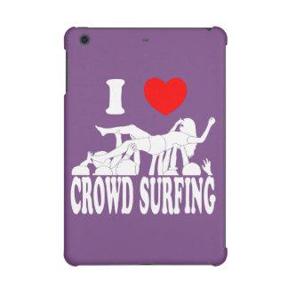 I Love Crowd Surfing (female) (wht) iPad Mini Covers
