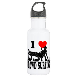 I Love Crowd Surfing (male) (blk) 532 Ml Water Bottle