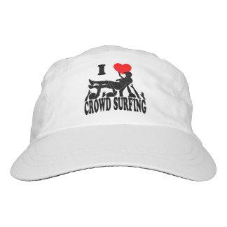 I Love Crowd Surfing (male) (blk) Headsweats Hat