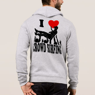 I Love Crowd Surfing (male) (blk) Hoodie