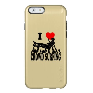 I Love Crowd Surfing (male) (blk) Incipio Feather® Shine iPhone 6 Case