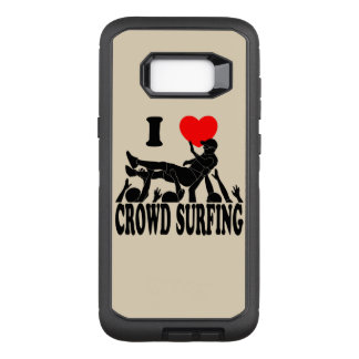 I Love Crowd Surfing (male) (blk) OtterBox Defender Samsung Galaxy S8+ Case