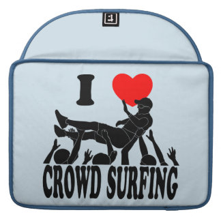 I Love Crowd Surfing (male) (blk) Sleeve For MacBooks