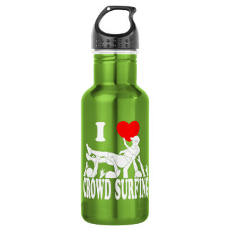 I Love Crowd Surfing (male) (wht) 532 Ml Water Bottle