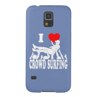 I Love Crowd Surfing (male) (wht) Galaxy S5 Cases