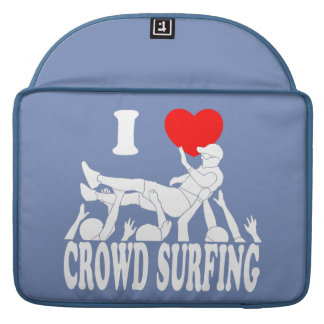 I Love Crowd Surfing (male) (wht) Sleeve For MacBooks