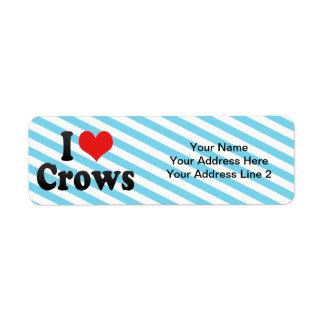 I Love Crows Return Address Label