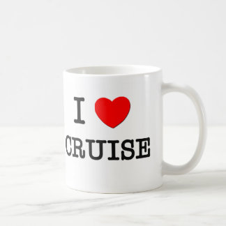 I Love Cruise Coffee Mugs