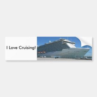 I Love Cruising Bumper Sticker