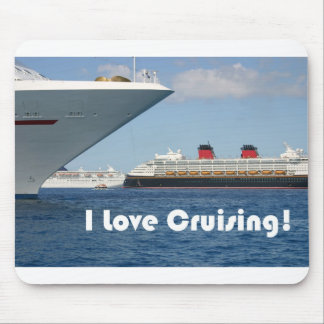 I Love Cruising Mouse Pad