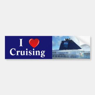 I Love Cruising N Bumper Sticker