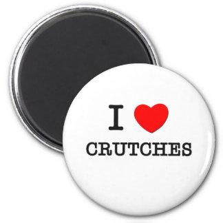 I Love Crutches Magnet