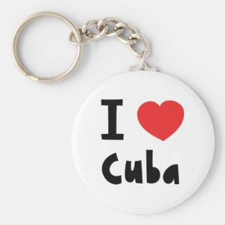 I love cuba keychain