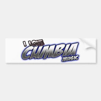 I Love CUMBIA music Car Bumper Sticker