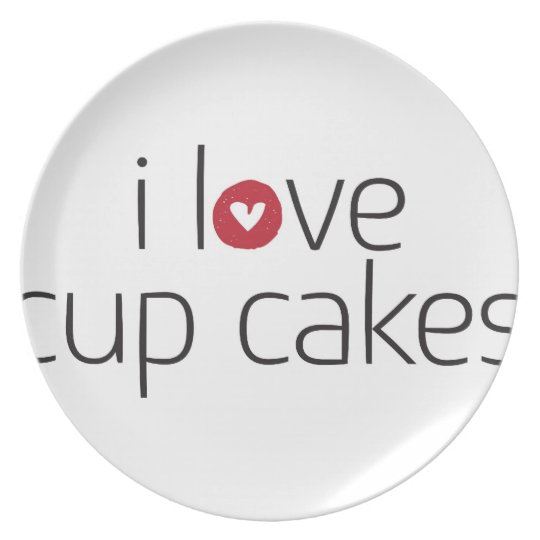 I love cup cakes plate