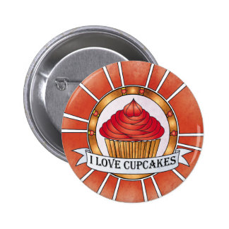 I love cupcakes 2 inch round button
