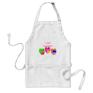 """I Love Cupcakes""--Cupcake lovers gifts Standard Apron"