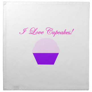 I Love Cupcakes! Napkin