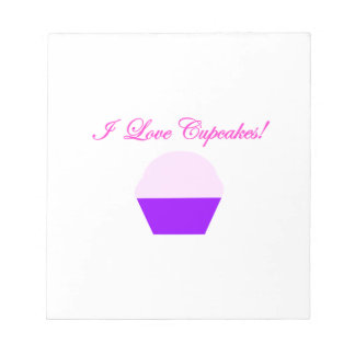I Love Cupcakes! Notepad