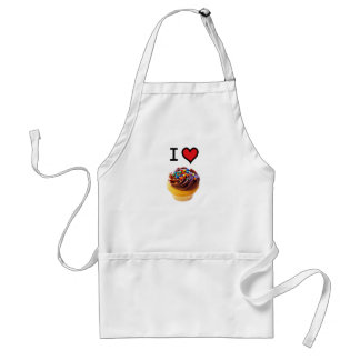 I Love Cupcakes Standard Apron