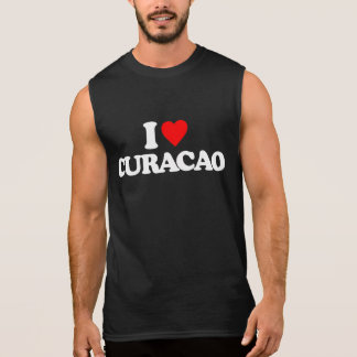I LOVE CURACAO SLEEVELESS SHIRT