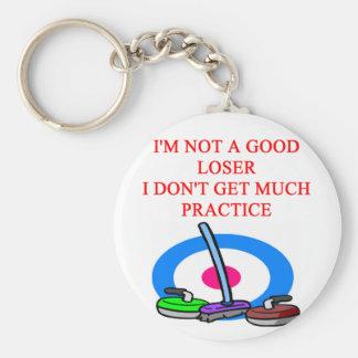 i love curling keychain